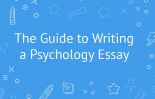 A good psychology essay